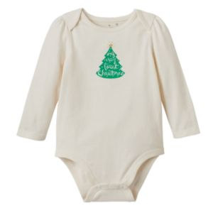 Baby Girl Jumping Beans® Glittery Holiday Graphic Bodysuit