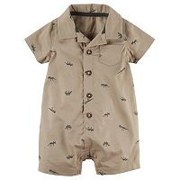 Baby Boy Carter's Dinosaur Button-Front Romper