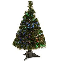 National Tree Company 24 in Fiber Optic Ice Artificial Christmas Tree