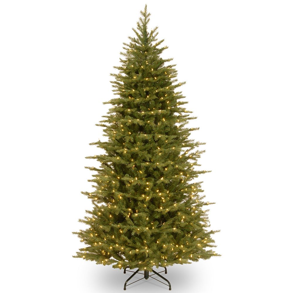 National Tree Company 7 5 Ft Pre Lit Artificial Nordic Spruce Slim Christmas Tree