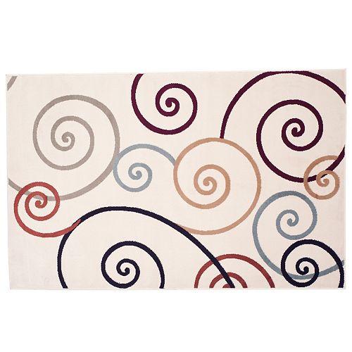 Portsmouth Home Modern Swirls Rug