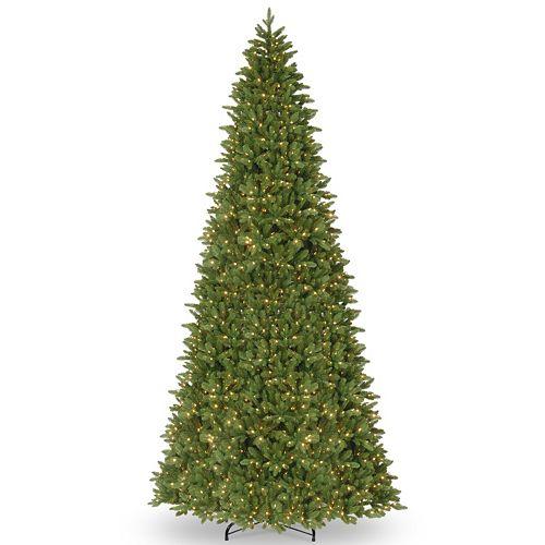 national tree company 14 ft pre lit artificial ridgewood spruce slim christmas tree - Artificial Silvertip Christmas Tree