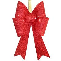 National Tree Company 20-in. Pre-Lit Red Sisal Bow Christmas Wall Decor