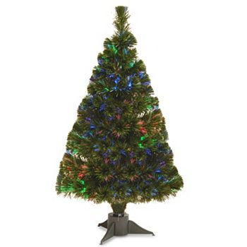 national tree company 26 ft led fiber optic battery operated artificial christmas tree floor decor - Battery Operated Christmas Trees