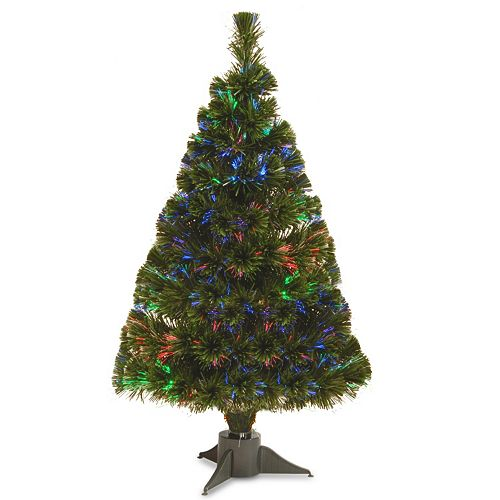 national tree company 26 ft led fiber optic battery operated artificial christmas tree floor decor - Battery Operated Christmas Tree