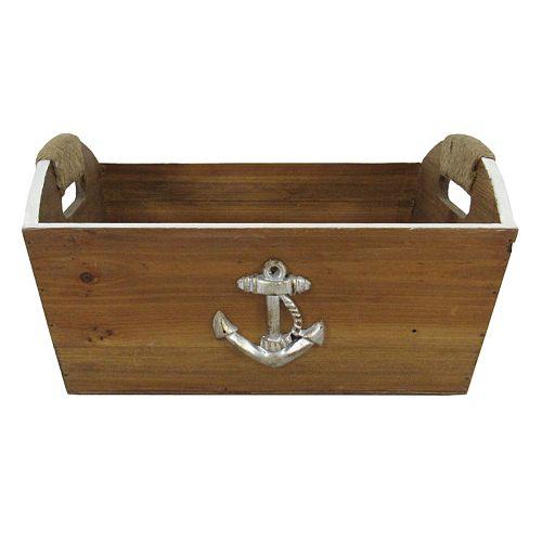 Anchor Tapered Wood Storage Bin