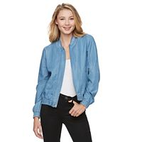 Juniors' Candie's® Denim Bomber Jacket