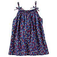 Girls 4-8 OshKosh B'gosh® Smocked Flower & Star Print Tank Top
