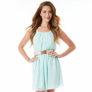 Juniors' IZ Byer California Pleated Dress