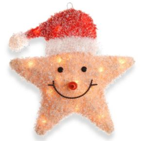 National Tree Company Smiling Santa Star Christmas Table Decor