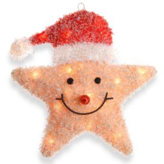 National Tree Company Smiling Santa Star Christmas Table Decor