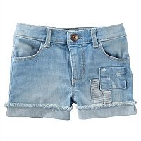 Girls 4-8 OshKosh B'gosh® Frayed Cuffed Denim Shorts