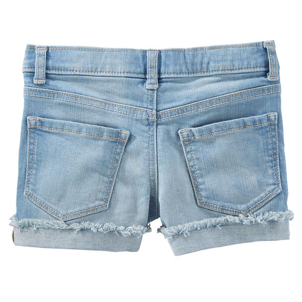 Girls 4-8 OshKosh B'gosh® Frayed Cuffed Denim Shorts