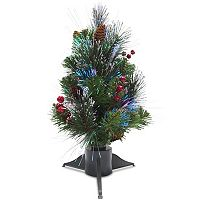 National Tree Company 18 in Fiber Optic Artificial Ice Crestwood Christmas Tree