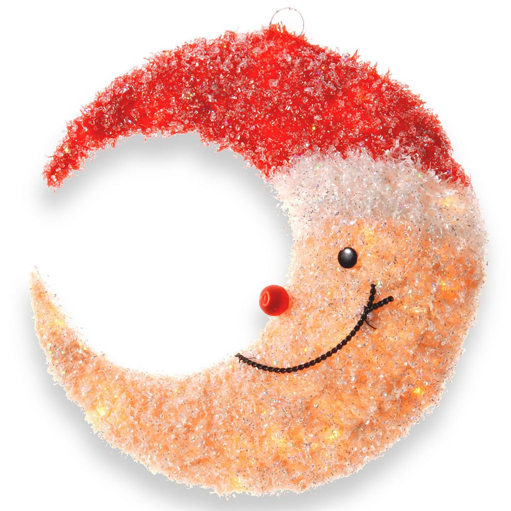 National Tree Company Smiling Santa Moon Christmas Table Decor