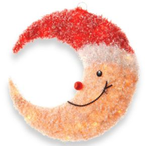 National Tree Company Smiling Santa Moon Christmas Table Decor