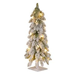 National Tree Company 24 in Snowy Pre-Lit Artificial Christmas Tree