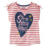 "Girls 4-8 OshKosh B'gosh® ""Show Your Stripes"" Heart Graphic Tee"