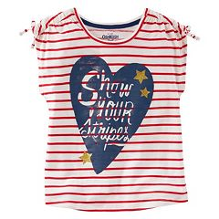 Girls 4-8 OshKosh B'gosh® 'Show Your Stripes' Heart Graphic Tee