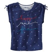 Girls 4-8 OshKosh B'gosh® 'Happy and Free' Embroidered Graphic Tee