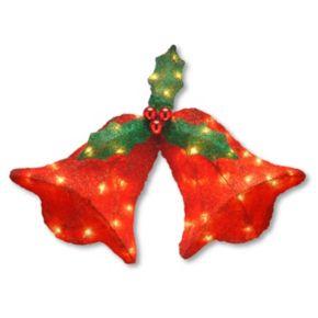 National Tree Company 12-in. Pre-Lit Sisal Jingle Bells Christmas Wall Decor