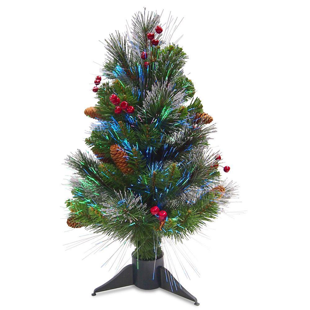 national tree company 2 ft fiber optic ice crestwood artificial christmas tree - Christmas Tree Company