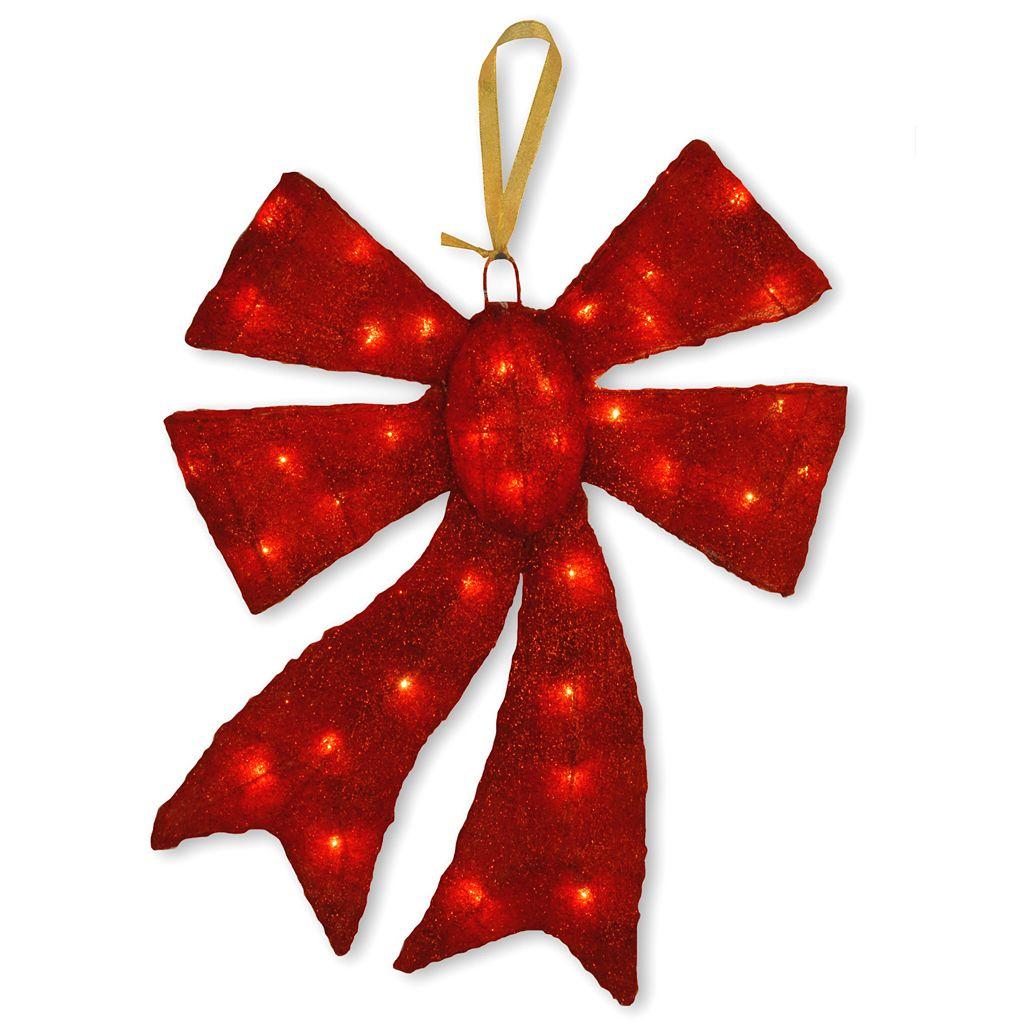 National Tree Company Red Christmas Bow