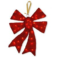 National Tree Company Red Christmas Bow