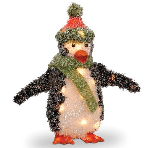 National Tree Company Penguin Christmas Table Decor