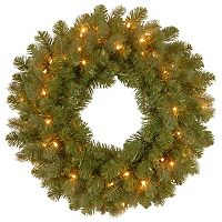 National Tree Company 24 in Douglas Fir Pre-Lit Artificial Christmas Wreath
