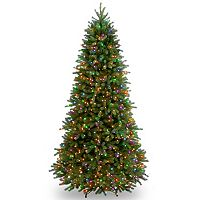 National Tree Company 7.5-ft. Jersey Fraser Slim Fir Multicolor Pre-Lit Artificial Christmas Tree