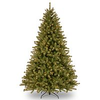 National Tree Company 9-ft. Pre-Lit Dual Color ''Feel-Real'' Lakewood Spruce Artificial Christmas Tree Floor Decor