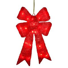 National Tree Company Wavy Red Christmas Bow