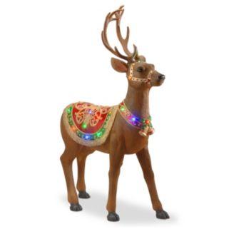 National Tree Company 49-in. Pre-Lit Fiberglass Standing Deer Christmas Decor