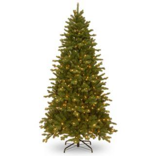 National Tree Company 7.5-ft. Pre-Lit Dual Color ''Feel Real'' Memory Shape Sheridan Spruce Artificial Christmas Tree Floor Decor