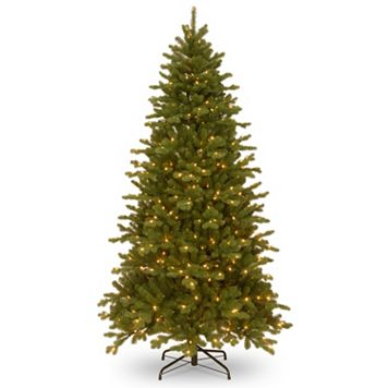 National Tree Company 7.5-ft. Pre-Lit Dual Color ''Feel Real'' Memory Shape Sheridan Spruce Artificial Christmas Tree Floor Decor
