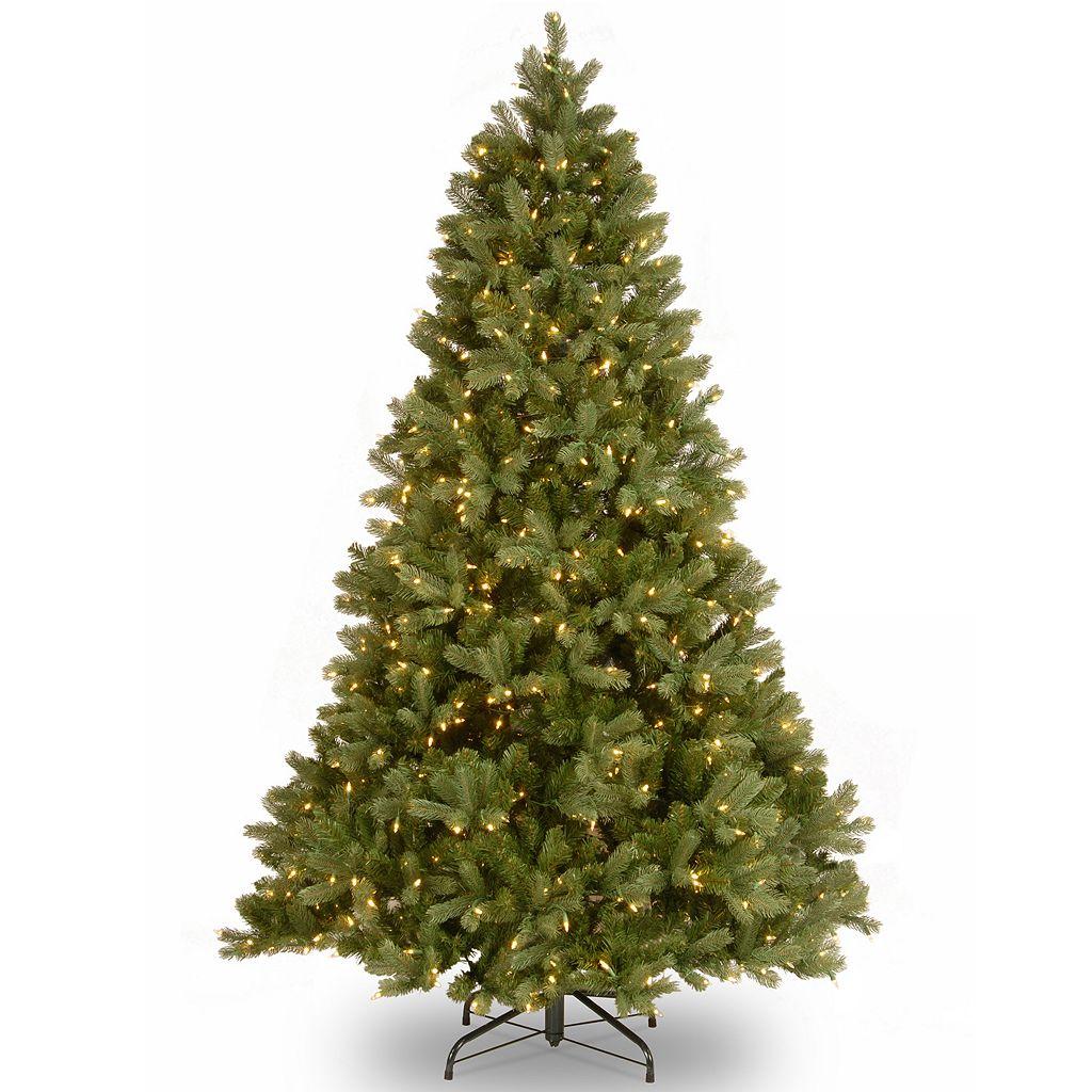 National Tree Company 7.5-ft. Douglas Fir Hinged Dual Color Pre-Lit Artificial Christmas Tree
