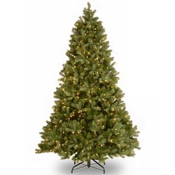National Tree Company 7.5-ft. Douglas Fir Hinged Dual Color Pre-Lit Artificial Christmas Tree