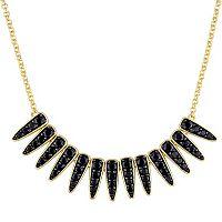 V19.69 Italia 18k Gold Over Silver Black Sapphire Mystique Necklace