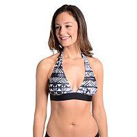 Women's Cyn and Luca Geometric Halter Bikini Top