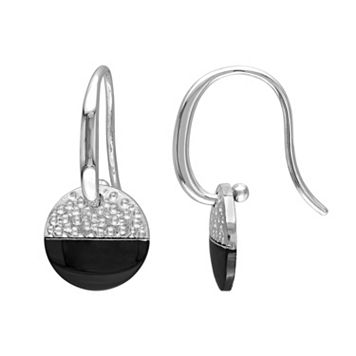 V19.69 Italia Two Tone Sterling Silver Moonlight Earrings
