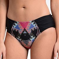 Women's Cyn and Luca Tribal Shirred Bikini Bottoms