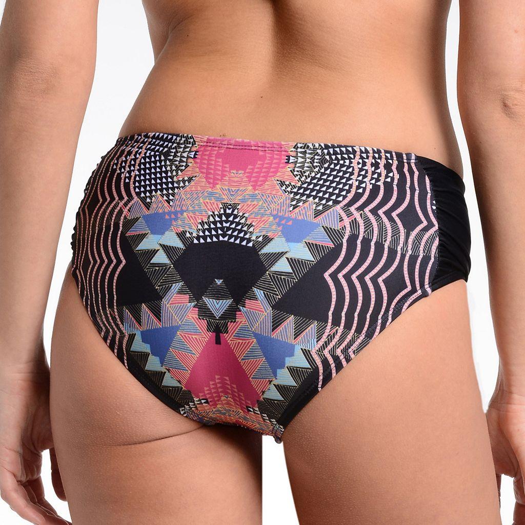 Women's Cyn and Luca Tribal Shirred Bikini Bottoms