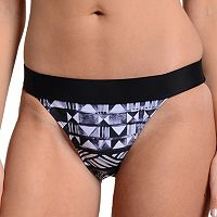 Women's Cyn and Luca Geometric Banded Bikini Bottoms