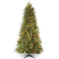 National Tree Company 7.5-ft. Tiffany Fir Slim Multicolor Pre-Lit Artificial Christmas Tree