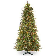 National Tree Company 7.5-ft. Tiffany Fir Slim Multicolor Pre-Lit Artificial Christmas Tree