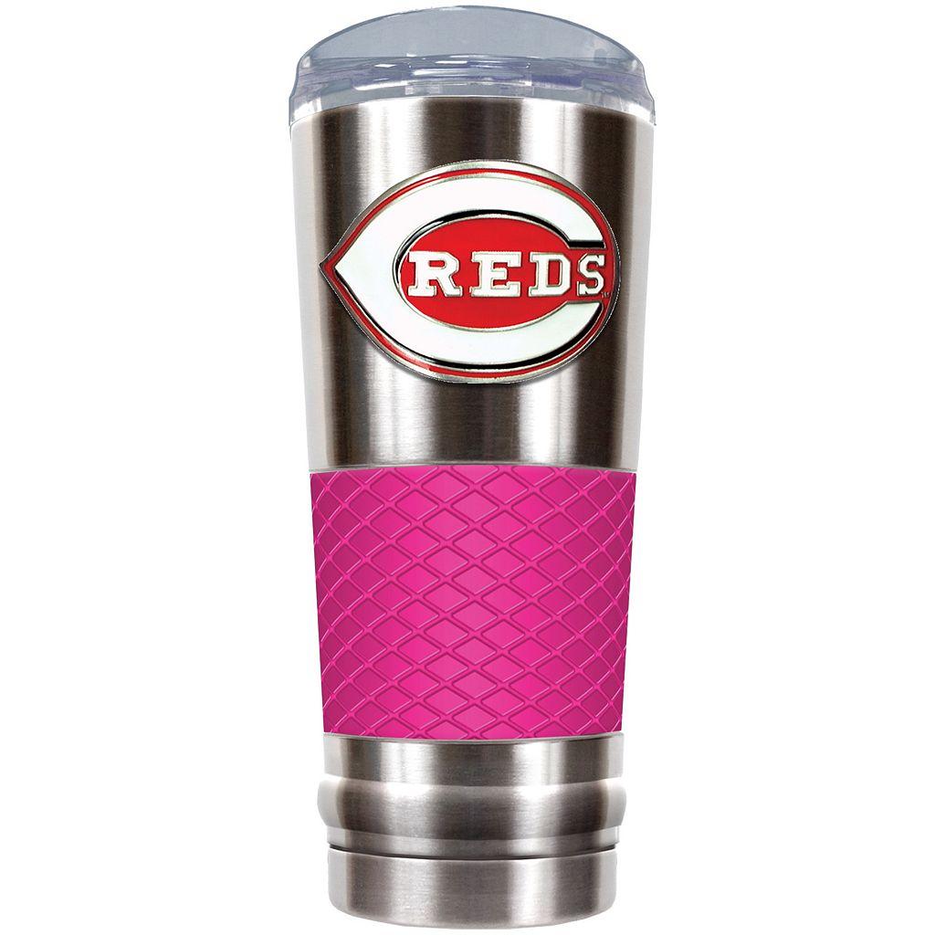 Cincinnati Reds 24-Ounce Draft Stainless Steel Tumbler