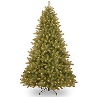 National Tree Company 7.5-ft. Pre-Lit Dual Color ''Feel-Real'' Lakewood Spruce Artificial Christmas Tree Floor Decor