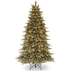 National Tree Company 7.5-ft. Copenhagen Blue Spruce Hinged Pre-Lit Artificial Christmas Tree