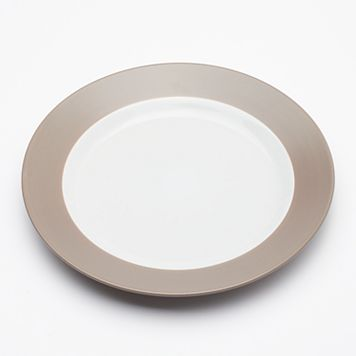 Food Network™ Applewood Taupe 12-in. Round Platter